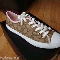 Nwob  New Women Coach Empire Signature Sneakers Shoes Khaki/petal Size 8 Photo