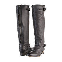 Nwob Steve Madden Rovvee Black Leather Riding  Boots Size 7.5  150 Photo