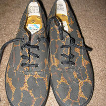 Nwob Todd Oldham for Keds Boat Tennis Athletic Shoes - Animal Print Canvas 5.5 Photo