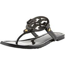 Nwob Tory Burch Black Patent Leather Miller Sandal/flat Sz 9 Rlts for 195 Photo