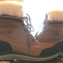 Nwob Ugg Australia Adirondack Chestnut Leather Sheepskin Boots Womens Size 10  Photo