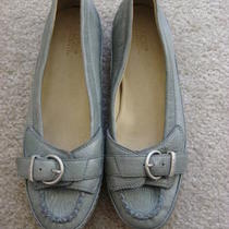 Nwob Ugg Australia Spring Summer Leather Flats Preproduction Light Blue Gray Us7 Photo