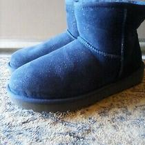 Nwob Ugg Australia Women's Blue Glittered Mini Boots 8 New Photo