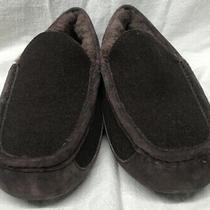Nwob Ugg Mens Swede Moc-Toe Slippers Dark Brown Size 9 Photo