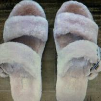 Nwob Ugg Pink Crystal Fuzz Yeah Slide Sheepskin Slipper Sandals Us 6 Photo