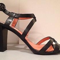 Nwob via Spiga High Heel Sandals Strappy Ankle Strap Leather Black 10 M 198 Photo