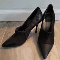 Nwob Vintage by Jeffery Campbell Blk High Heel Booties W/ Snakeskin Print Sz 8.5 Photo