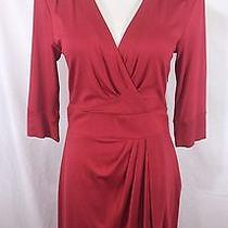 Nwot 228 Trina Turk Red Surplice Wrap Style a-Line Work Dress Size 8 Photo