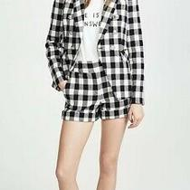 Nwot 350 Veronica Beard Carito Shorts Checkered Gingham Black White Size 2 Photo