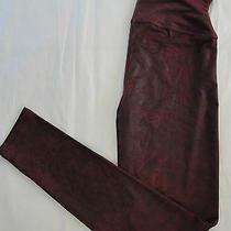 Nwot 68 Yummie Tummie Jade Faux Leather Skinny Leggings Sz M Port Photo