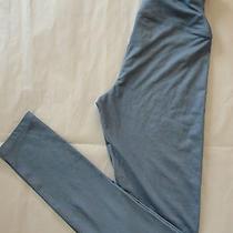 Nwot 68 Yummie Tummie Jade Faux Leather Skinny Leggings Sz Xs Blue Chambray Photo