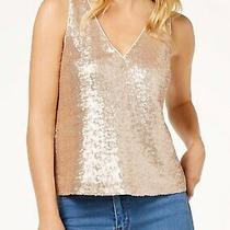 Nwot 99 Zoe by Rachel Zoe for Macys Gold Sequin Top Blush S Free Shipping Photo