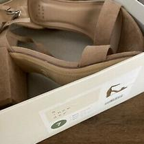 Nwot a New Day Blush Taupe Suede Size 7 Sandal Block Heels Strap Open Photo