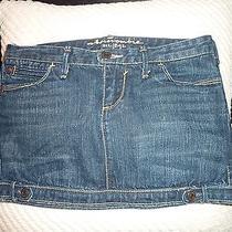 Nwot Abercrombie Junior Misses Jean Denim Mini Skirt 100% Cotton sz.14  Photo