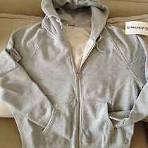 Nwot Acne Clothing Grey Cotton College Hoodie Xl Photo
