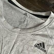 Nwot Adidas Womens Gray Fitness Running Workout T-Shirt Athletic Xl Photo