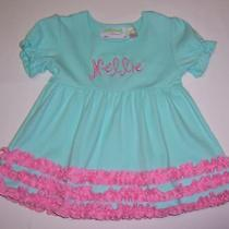 Nwot Adorable Girls Dress by Lolly Wolly Doodle Size 2/3 Monogram Name Nellie Photo