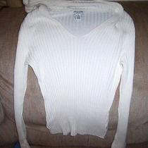 Nwot Aeropostale Off White Hooded Sweater Szm Photo