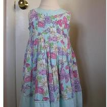 Nwot American Girl Polly & Friends Pastel Aqual Pink Butterfly Swing Dress 3t Photo
