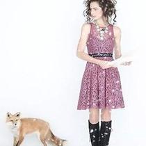 Nwot Anthropologie Blush Mariposa Lace Dress Tracy Reese Size 0 Xs 248 Photo