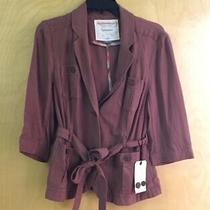 Nwot Anthropologie Cartonnier Brick Silk Cotton Blazer Jacket Coat Sz 10 Photo