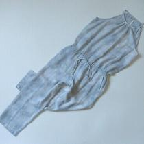 Nwot Anthropologie Cloth & Stone Ice Blue Tie Dye Sleeveless Cropped Jumpsuit S Photo