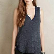Nwot Anthropologie Deletta Layered Lila Tank  Top Navy Sparkly Xs  Photo