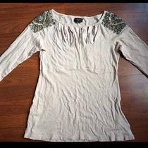 Nwot Anthropologie Deletta Nude Blush Blouse Top Small Cute Photo
