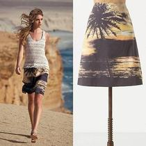 Nwot Anthropologie Digital Sunset Skirt Size 2 Photo