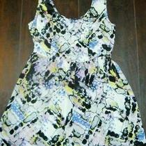 Nwot Anthropologie Silence  Noise Floral Silk Mini Dress Small Photo