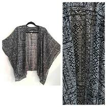 Nwot Arizona Jean Co Black & White Geometric Tribal Print Kimono Size Xs/s Photo