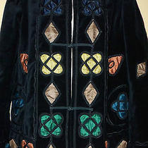 Nwot Armani Collezioni Womens Velour Multicolor Stained- Glass-Like Jacket 10  Photo