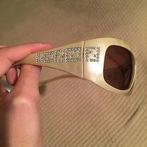 Nwot Authentic Fendi Rhinestone Mother of Pearl Look Sunglasses Gorgeous Photo