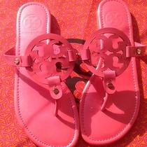 Nwot Authentic Tory Burch Patent Pink Leather Miller Sandals Size 9 Photo