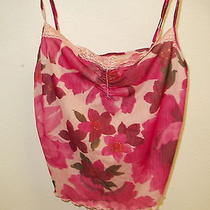 Nwot Avon Intimates Womens Cami Top & Panties Size Small Pink Floral Print Photo