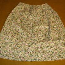 Nwot Avon Style Womens Ladies Skirt - Large & Vest - 1x Beige Multi-Color Floral Photo