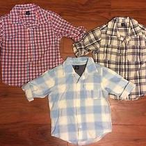 Nwot Baby Gap Boys 3t Lot of 3 New & Like New Button Up Shirts Spring Photo