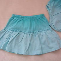 Nwot Baby Gap Kids Turquoise Aqua Blue Dip Tie Dye Skirt 2t 2 Beach Dress Photo