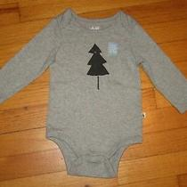 Nwot Baby Gap Tree Gray L/s Bodysuit/shirt Size 6-12 Months Photo