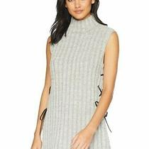 Nwot Bcbg Max Azria Lace Up Leather Ties Sweater Vest With Side Slit Size Xs Photo