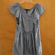 Nwot Bcbg Max Azria Silk Cornflower Blue Tunic Top Blouse Sz L Photo