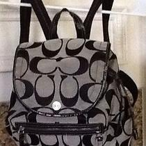 Nwot Beautiful Authentic Coach Backpack Perfect Condition.  Photo