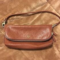 Nwot Beautiful Leather Fossil Bag/clutch Photo