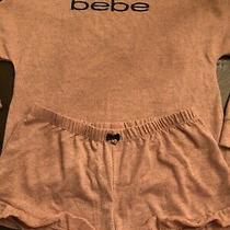 Nwot Bebe Plus Size Pink Heather Pajama Set 1xl Photo