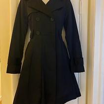 Nwot Bebe Trench Coat Black Jacket Sz Xs Photo