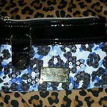 Nwot Betsey Johnson Water Color Cheetah Wristlet Blue Photo