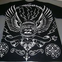 Nwot-Billabong Black/white T-Shirt Wings/lighting Bolts 100% Cotton Size Large. Photo