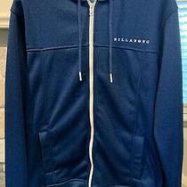 Nwot Billabong Men's Zip-Up Hoodie Blue White Size Large Photo