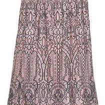 Nwot Black Lace Skirt Over Blush Faux Silk Ladies Size 10 Photo