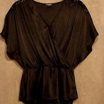 Nwot Black v-Neck Tunic From Express Size Small Photo